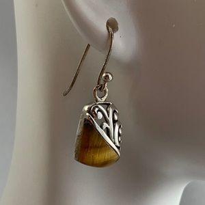 Jewelry - Sterling & Tigereye Earrings
